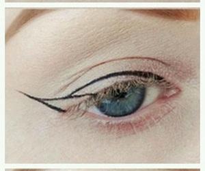 eye, eyeliner, and make-up image