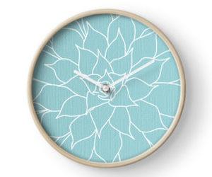 aqua, clock, and teal image