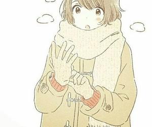 anime girl, winter, and anime fashion image