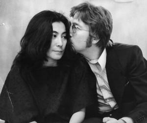 john lennon, love, and Yoko Ono image