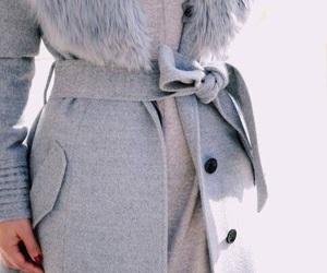grey coat, winter fashion, and stylish image