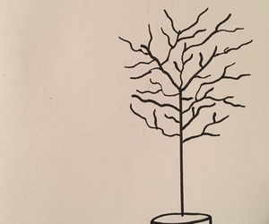 art, black, and branches image