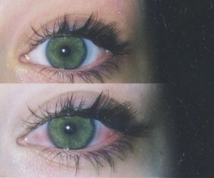 eyes, green, and grunge image