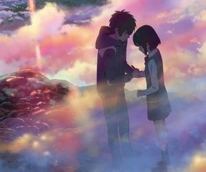 couple, your name, and kimi no na wa image