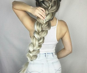 beautiful, girl, and hairstyle image