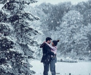 couple, love+, and winter+ image