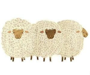 drawing, sheep, and vintage image