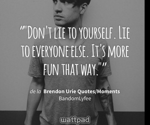 black and white, brendon urie, and fun image