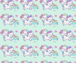 kawaii, pattern, and unicorn image