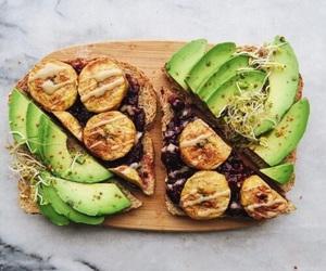 banana, avocado, and food image