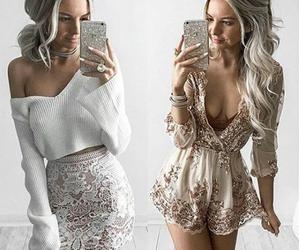 fashion, grey, and makeup image