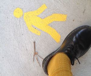alternative, dr martens, and yellow aesthetic image