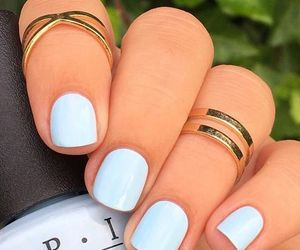 blue, manicure, and nail image