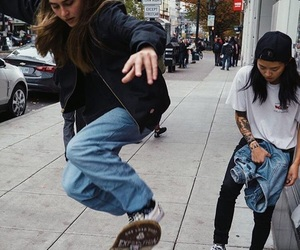 clothes, skateboard, and skater image