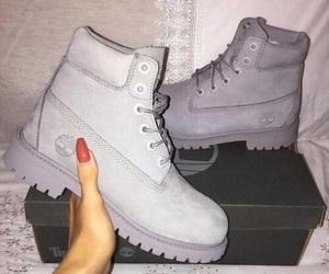 timberland, grey, and fashion image