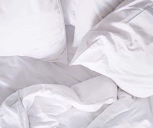 white, bed, and minimal image