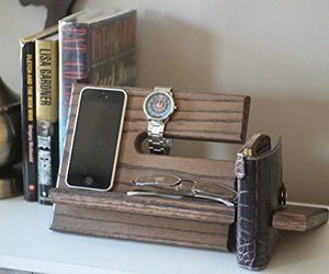 furniture, catchall, and handmade stand image