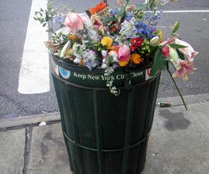 flowers, trash, and grunge image