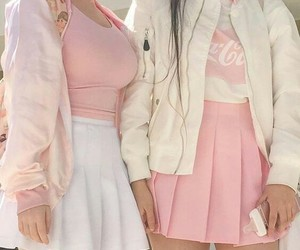 coca cola, outfits, and pink image