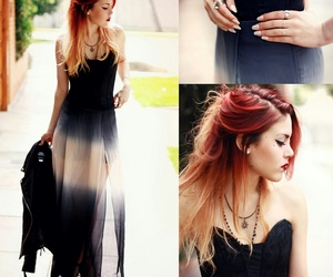 hair, dress, and outfit image