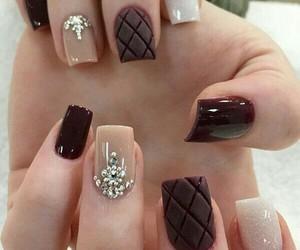 bling, nails, and dark image