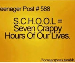 school, life, and teenager post image