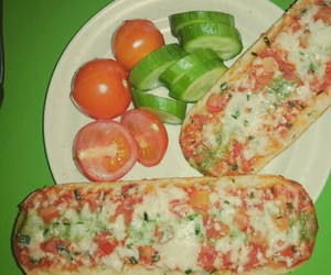 dinner, food, and pizza image