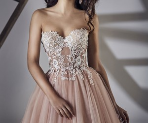 pink, sleeveless, and tulle image