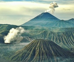 adventure, volcano, and asia image
