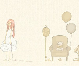 anime, balloons, and pretty image