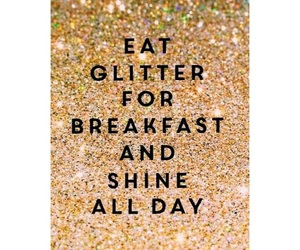 breakfast, glitter, and shine image