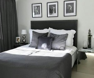 bedroom, black, and decoration image