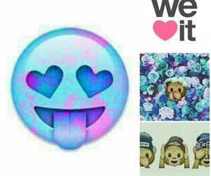 weheartit, monkey emoji, and be a bee image