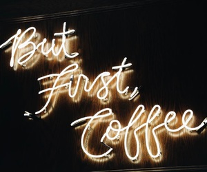 but, neon, and coffee image