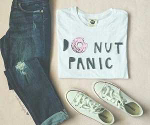 fashion, outfit, and donuts image