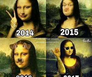 funny, mona lisa, and meme image