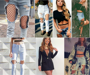 fishnet, rock, and style image
