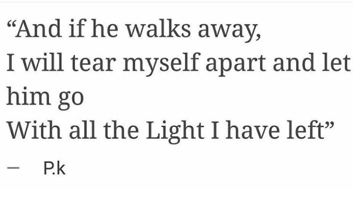 When he walks away let him go