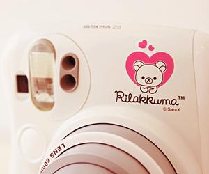camera, heart, and polaroid image