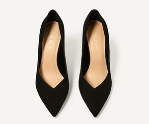 black, chic, and flats image