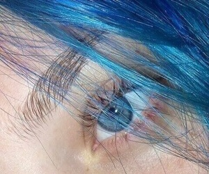 blue, eyes, and hair image