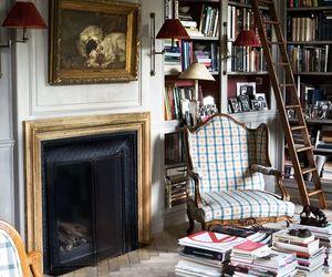 books, bookshelves, and living room image