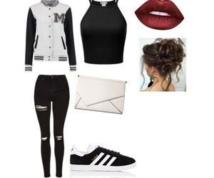 black, woman, and outfits image