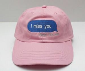 pink, cap, and grunge image