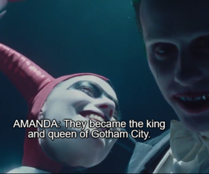harley, joker, and king&queen image