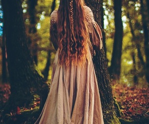 fantasy, forest, and long hair image