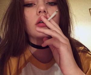 girl, tumblr, and cigarette image