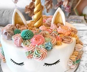 cake, unicorn, and food image