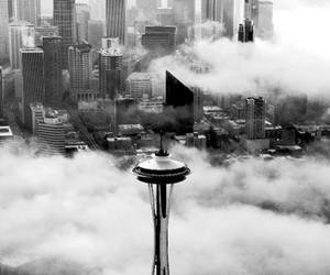 seattle, photography, and black and white image