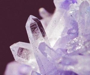 crystal, purple, and rock image